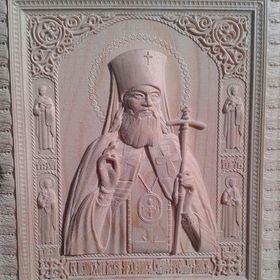 Икона Св. Лука, лиственница